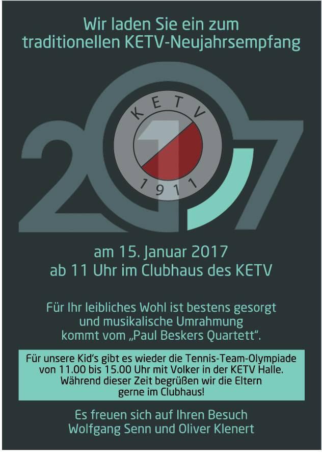 Einladung zum Neujahrsempfang 2017